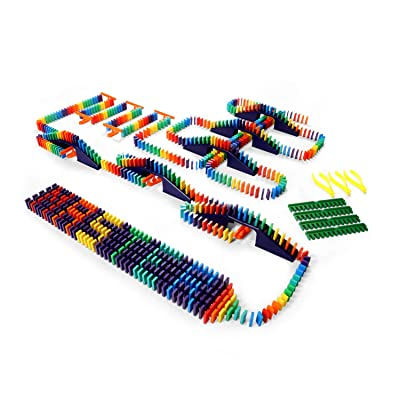 Bulk Dominoes 727pcs Mini Master Dominoes, Ultimate Stacking & Toppling Kit. Chain Reaction Steam Toy Building Set: Toys & Games