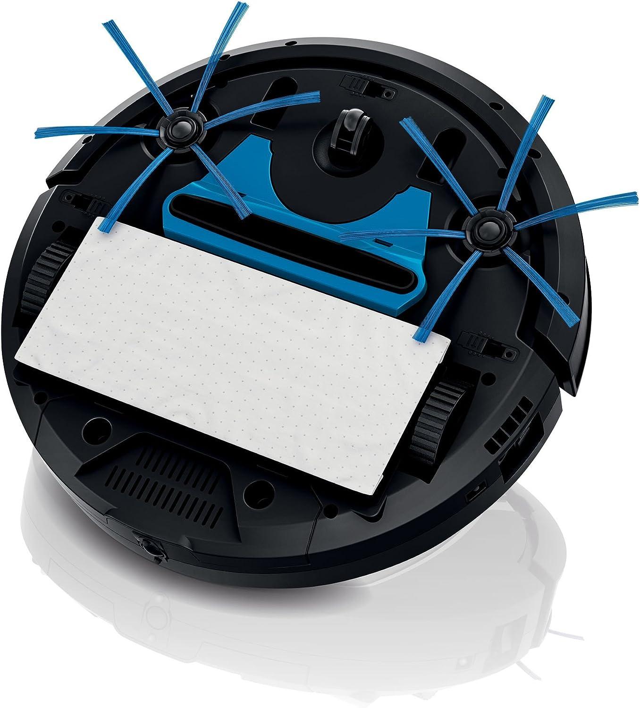 Philips FC8810/01 - Robot aspirador, sistema de limpieza de 3 fases, programación semanal, color negro y titanio: Amazon.es: Hogar
