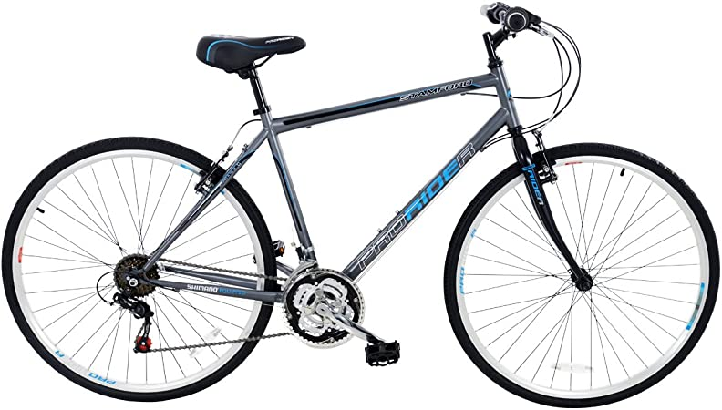 Pro Rider Stamford - Bicicleta híbrida para hombre, 18 velocidades ...