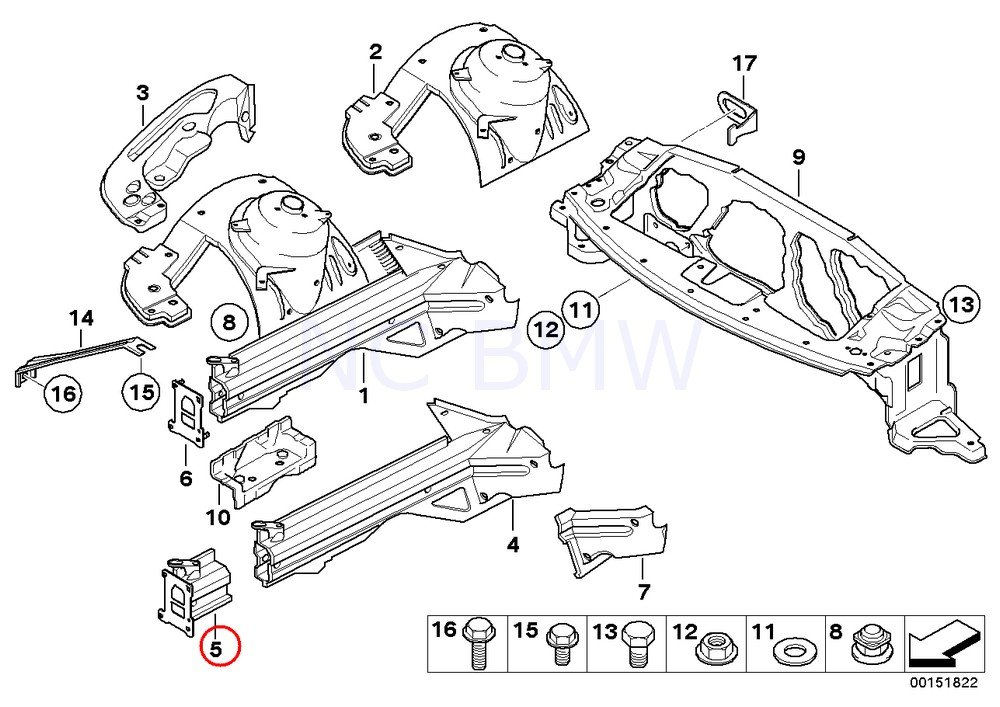 Amazon Com Bmw Genuine Section Of Right Engine Support Automotive