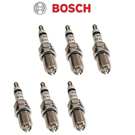 Bosch 4417 Platinum + 4 FGR7DQP Bujía (Pack de ...
