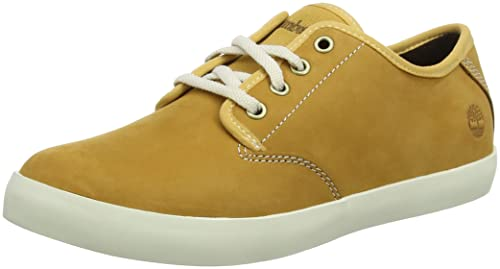 Timberland Dausette Leather Ox, Zapatos de Cordones Oxford para Mujer, Amarillo (Wheat Nubuck), 41 EU