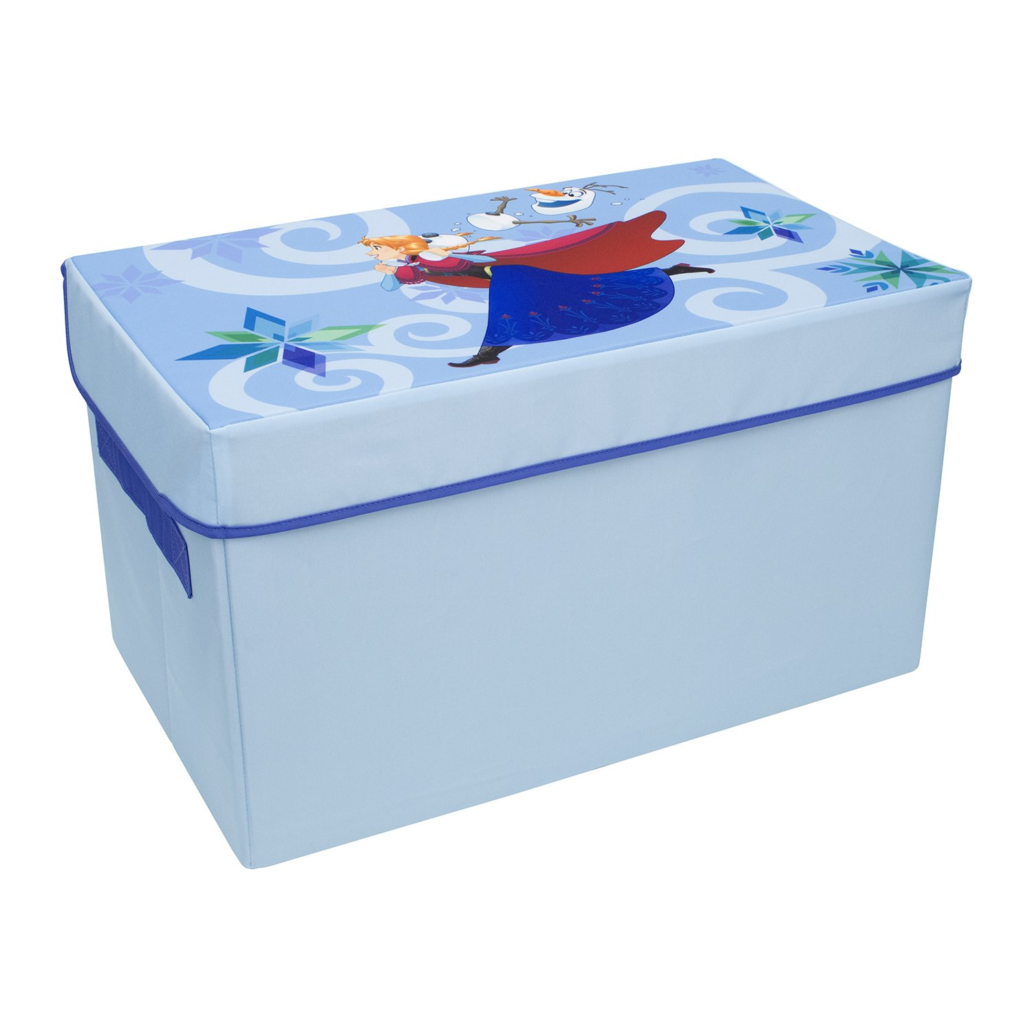 Frozen Collapsible Kids Toy Storage Chest by Disney - Flip-Top Toy Organizer Bin for Closets, Kids Bedroom, Boys & Girls Toys - Foldable Toy Basket Organizer with Strong Handles & Design