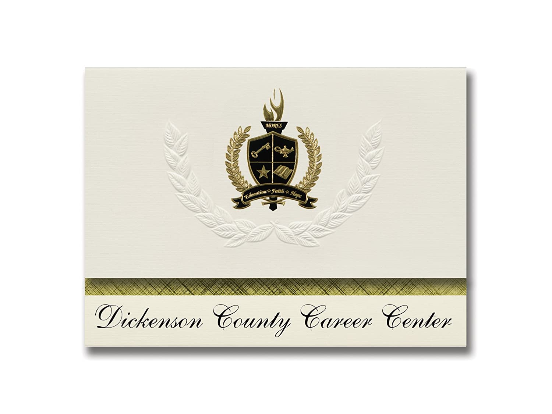 Signature Ankündigungen Dickenson County County County (Karriere Center (clinchco, VA) Graduation Ankündigungen, Presidential Stil, Elite Paket 25 Stück mit Gold & Schwarz Metallic Folie Dichtung B078WFY6YP | Moderater Preis  b08d92