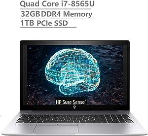 "2019 Newest HP Elitebook 850 G6 15.6"" Full HD FHD(1920x1080) Business Laptop (Intel Quad-Core i7-8565U Vpro, 32GB DDR4 RAM, 1TB PCIe NVMe SSD) Fingerprint, Backlit, Thunderbolt, B&O, Windows 10 Pro"