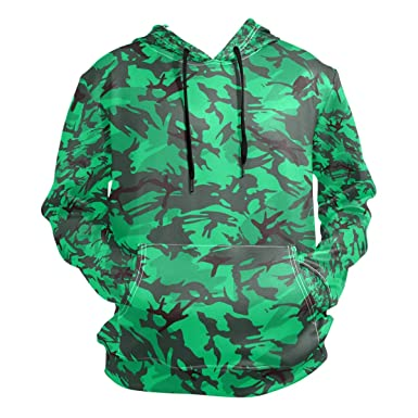 Image Unavailable. Image not available for. Color  Charlley Lee Men s Hooded  Sweatshirt Green Army Military Camo Fashion Hoodie 0f6de3dd2