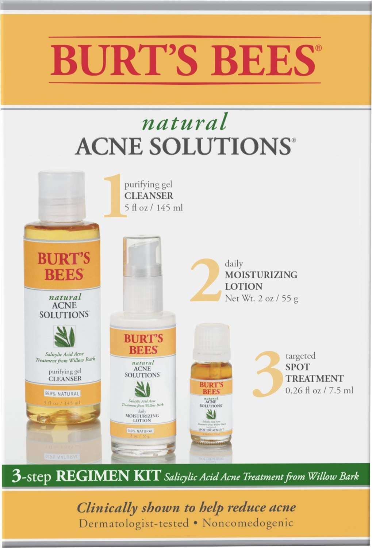 Amazon Com Burt S Bees Natural Acne Solutions 3 Step Regimen Kit