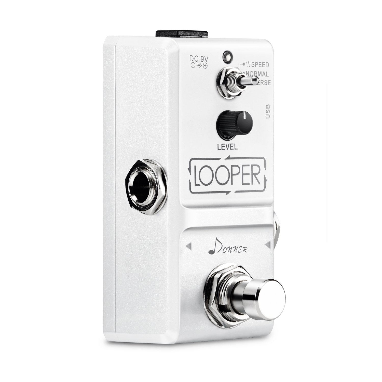 Donner Looper Gitarre Effektpedal 10 Minuten Looping 3 Modi EC967-DE-DN
