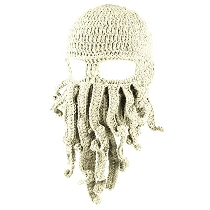 Amazon.com  LKXHarleya Funny Tentacle Octopus Cthulhu Knit Beanie Hat  Balaklava Hat Winter Cap Full Face Wind Mask  Sports   Outdoors 66e14084ca4