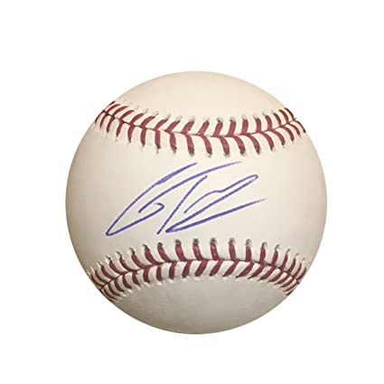 0003b263660 Gleyber Torres New York Yankees Autographed MLB Signed Baseball PSA ...