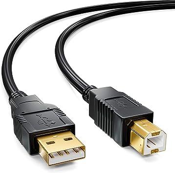deleyCON 10m Activo Cable USB 2.0 Cable de Impresora Cable del ...