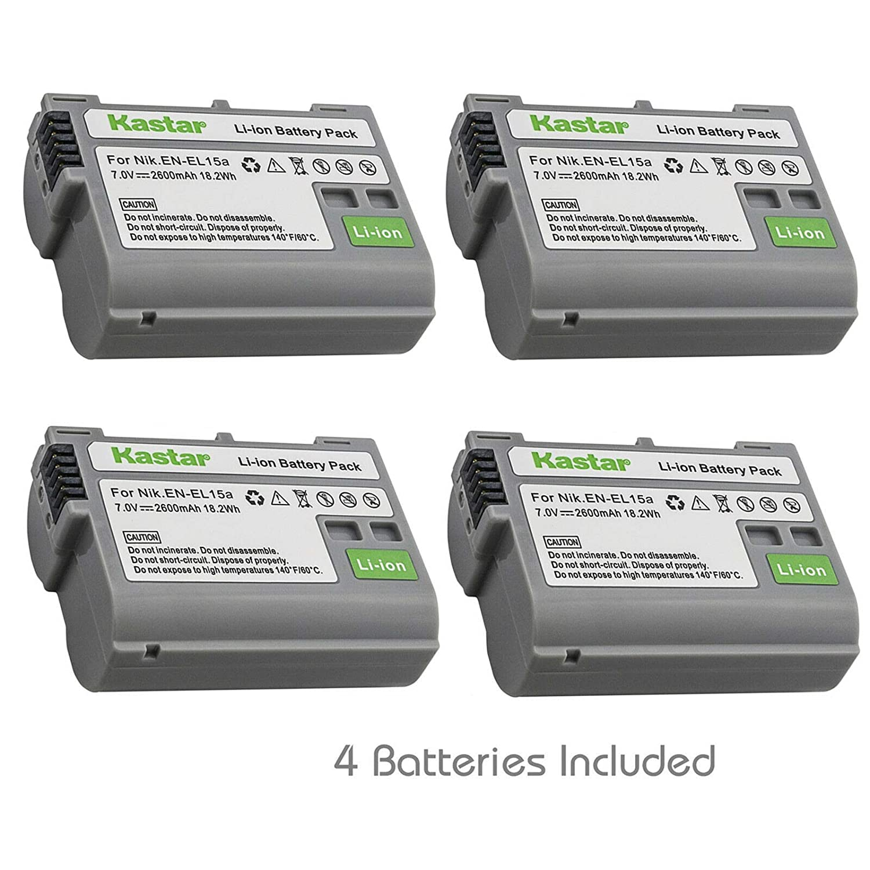 Amazon com : Kastar 3 Pack Battery Compatible with Nikon EN
