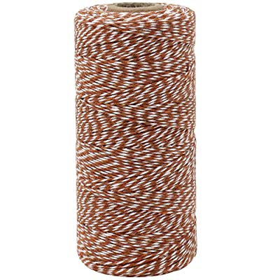 Just Artifacts ECO Bakers Twine 240-Yards 4Ply Striped Cinnamon - Decorative Bakers Twine for DIY Crafts and Gift Wrapping : Office Products