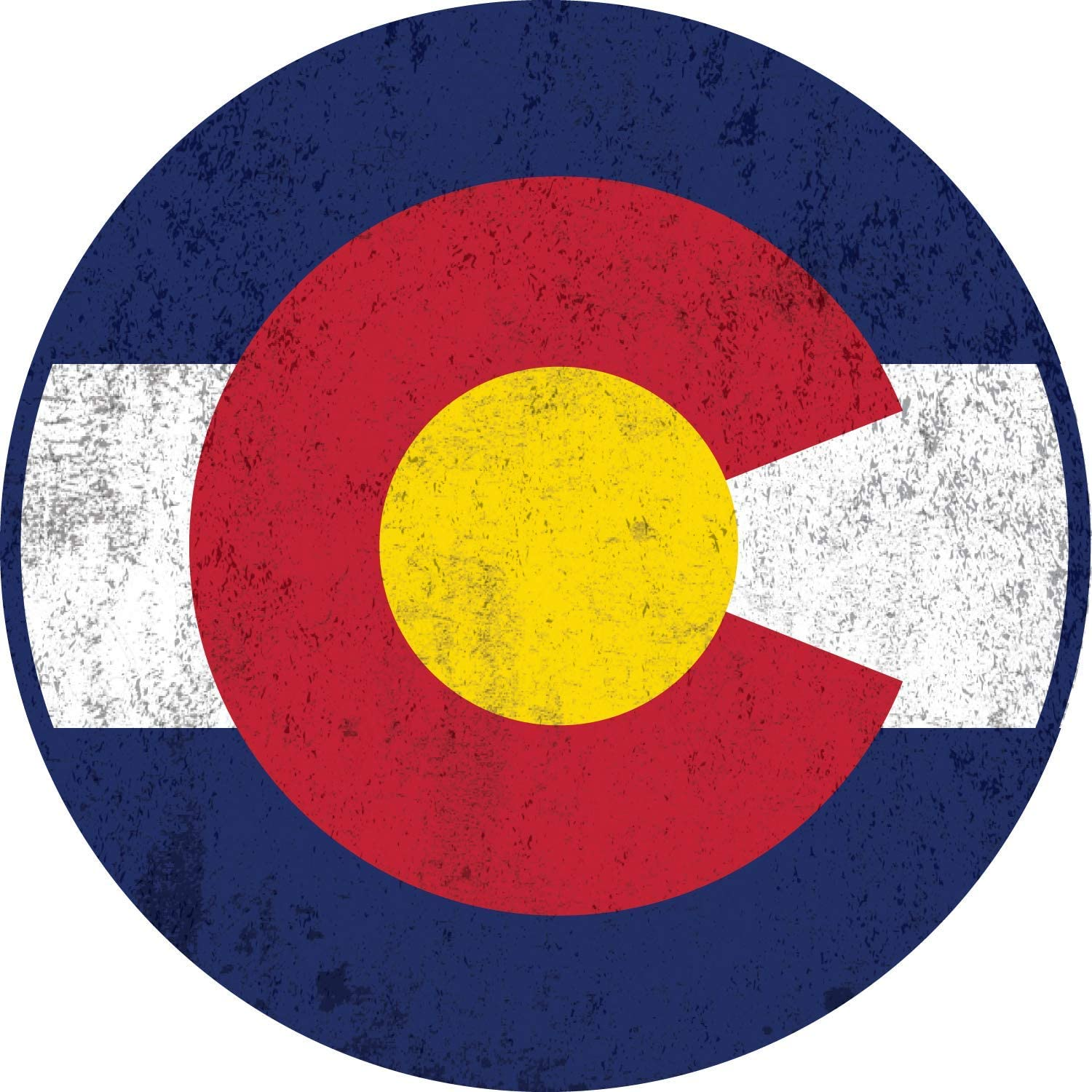 Car Magnet Distressed Colorado State Flag Magnetic Decal for Locker or Fridge, 5 1/2 Inch