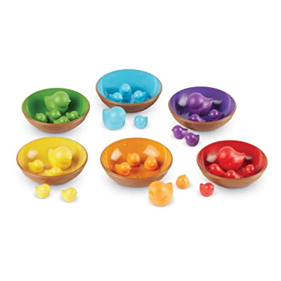 Learning Resources Birds in a Nest Sorting Set, Fine Motor Set, 36 Pieces, Ages 2+: Toys & Games