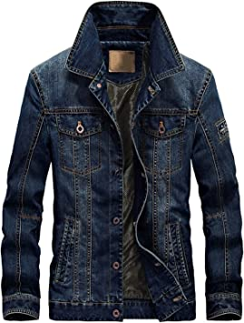 デニムジャケット メンズ裏地付きカジュアル コットンスリムフィットラギッドウェアミリタリーアウターコート ユーズド加工デニムジャケット