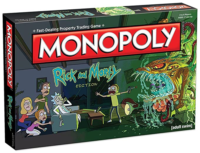 Monopoly Rick and Morty Board Game | Based on the hit Adult Swim series  Rick & Morty | Offically Licensed Rick Morty Merchandise | Themed Classic