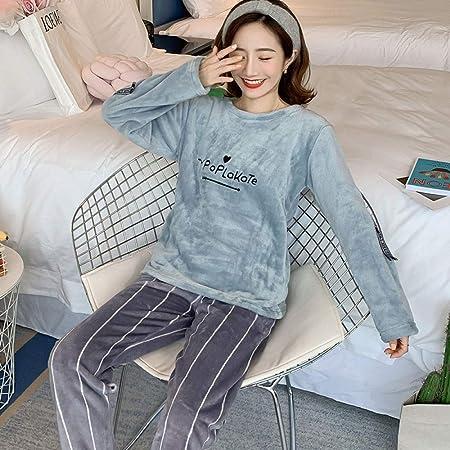 Cálidos Pijamas para Mujer,Conjunto De Ropa De Dormir Cálida ...