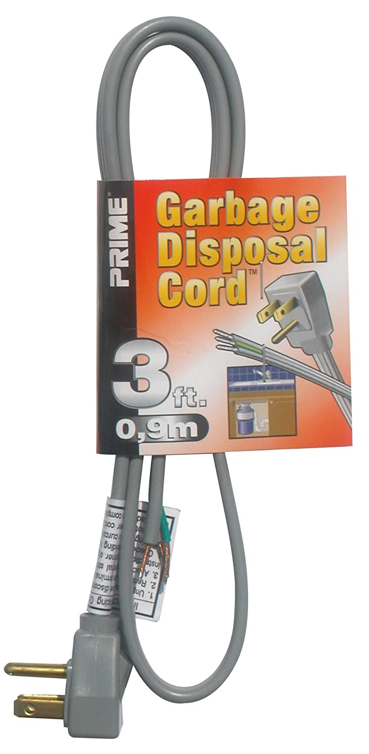 Prime Ps210606 Garbage Disposal Power Supply Cord Gray 6 Feet Wiring A And Dishwasher Electrical Share The Extension Cords