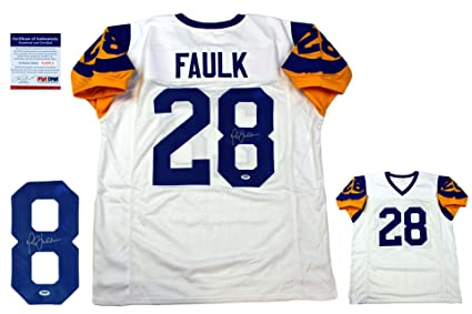 low priced bf286 035a6 Marshall Faulk Signed Custom Jersey - PSA/DNA - Autographed ...