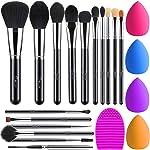 BESTOPE Makeup Brushes 16PCs Makeup Brushes Set with 4PCs Makeup Blender