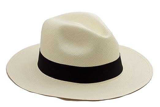 Tumia - Cappello Panama in stile Fedora originale - arrotolabile - tessuto  a mano.  Amazon.it  Abbigliamento 8c772fa8ad32
