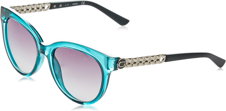 TALLA 56. GUESS Mujer Redondo chain-trim Logo gafas de sol