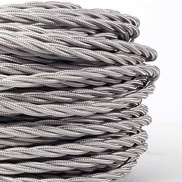 Twist 2 Core Textil Stromkabel Lampen-Kabel Stoff Kabel geflochten,für Lampe
