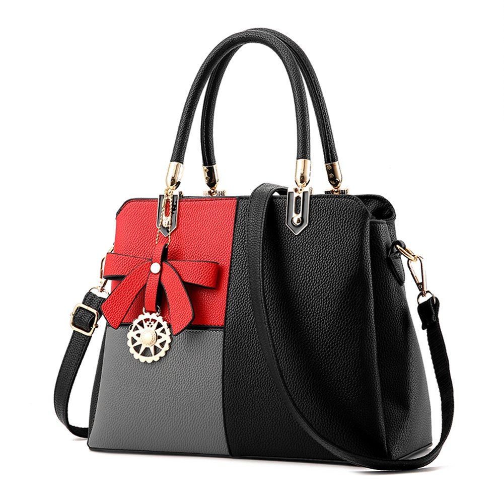 Dreubea Womens Fashion Handbag Tote Shoulder Bags Leather Crossbody Purse Satchel Black 1