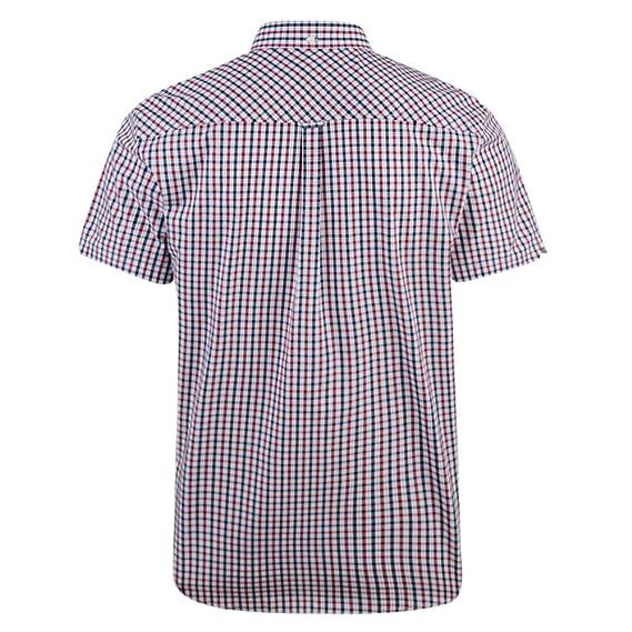 Ben Sherman Short Sleeve Shirt House Check Button Down Collar (MA11122):  Amazon.co.uk: Clothing
