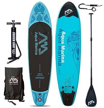 Tabla de surf de remo SUP Aqua Marina hinchable vapor Modelo 2016, - Board+