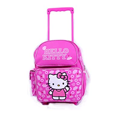 0ba0c8a5cc5b Image Unavailable. Image not available for. Color  Sanrio Hello Kitty  Rolling Backpack ...