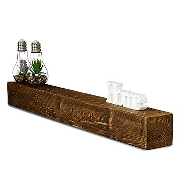 Levandeo Wandregal Holz Massiv 100x10cm Nussbaum Farbig Wandboard