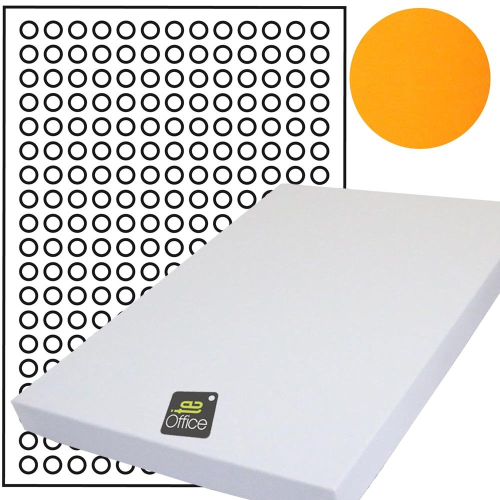 Markierungspunkte DIN A4 Bogen 2470 Klebepunkte 10 mm Papier weiß