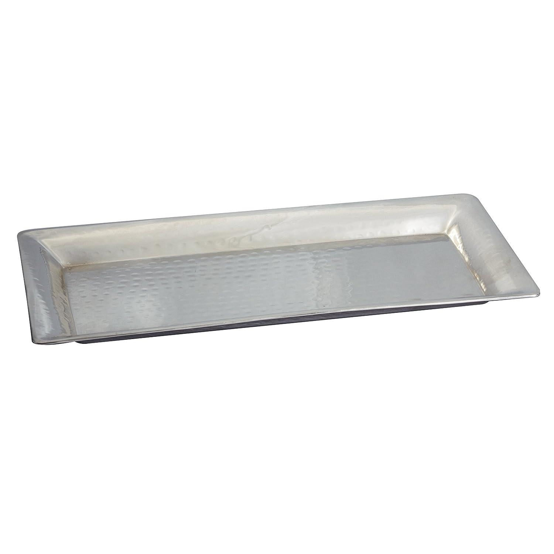 Elegance 72632 Rectangular Tray Hammered, Silver Leeber Ltd USA