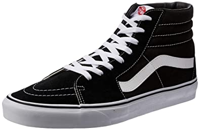 ec95ab26 VANS Sk8-Hi Unisex Casual High-Top Skate Shoes, Comfortable and Durable in  Signature Waffle Rubber Sole