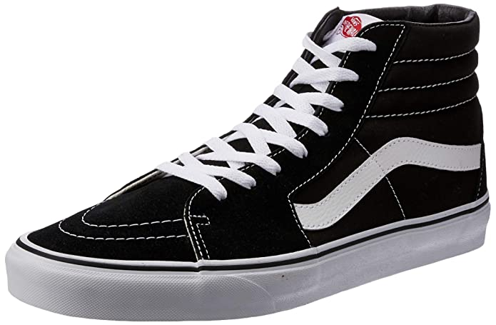4d6122b1 VANS Sk8-Hi Unisex Casual High-Top Skate Shoes, Comfortable and Durable in  Signature Waffle Rubber Sole