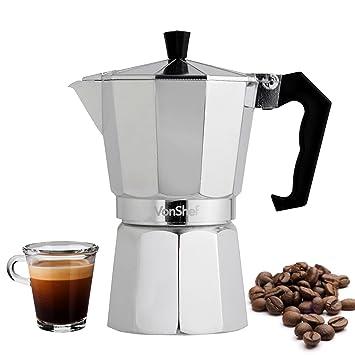 Vonshef - Vonshef - macchinetta italiana de café espresso para estufa de 3 o 6 tazas (6 tazas): Amazon.es: Hogar