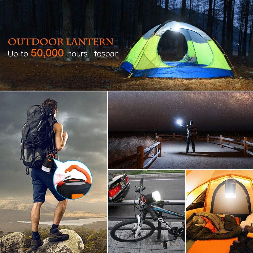 lanktoo Camping Linterna, 3 en 1 Impermeable LED Linterna recargable 12800mAh Banco de potencia, lámpara repelente de mosquitos, 5 modos Luz de tienda al aire libre para caminatas, pesca y emergencias: Amazon.es: Jardín