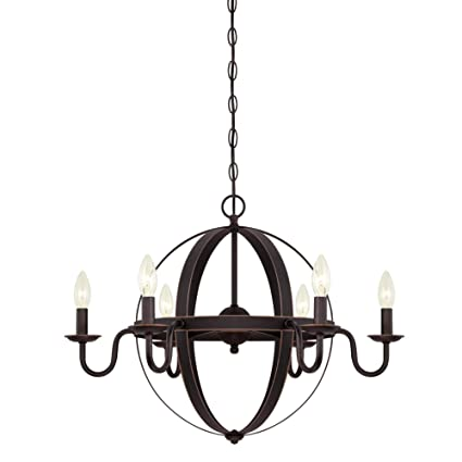 best sneakers ef701 2d1d5 Westinghouse Lighting 6303300 Brixton Six-Light Indoor Chandelier, Oil  Rubbed Bronze Finish with Highlights,