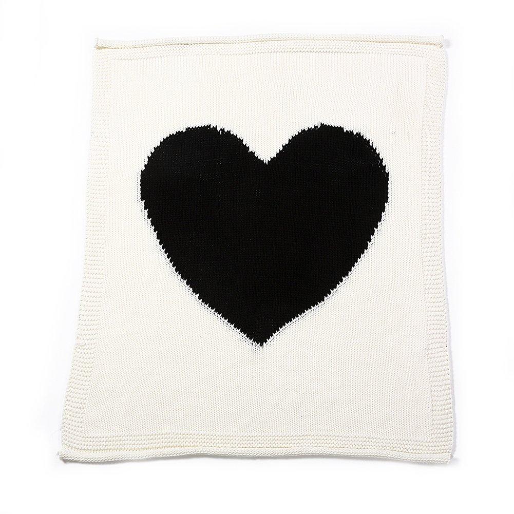 TININNA - Manta para bebé (suave y cálida, amor corazón patrón de ...