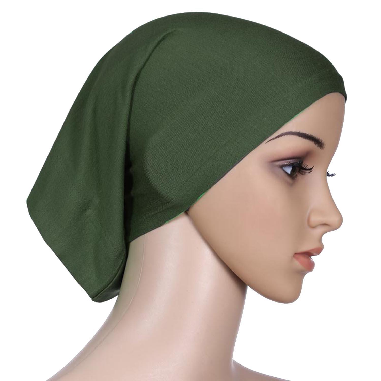 Islamic Light Cotton Solid Color Elastic Sleep Hair Tube Caps Cook Clean Head Wrap