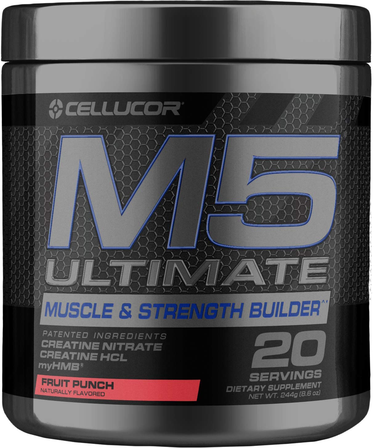 Cellucor M5 Ultimate Post Workout Powder Fruit Punch | Muscle & Strength Building Supplement | Creatine Monohydrate + Creatine Nitrate + Creatine HCL + HMB | 20 Servings by Cellucor