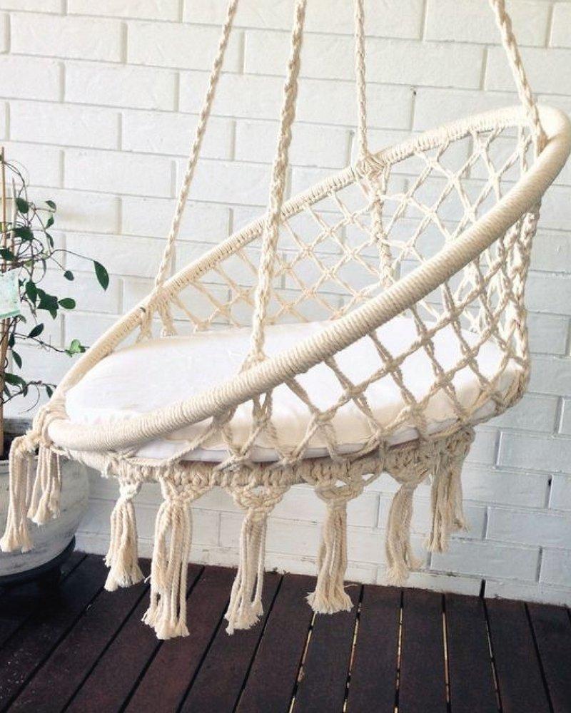 crochet hanging chair, macrame art, hammock, boho, bohemian decor, kids room, garden decoration, boho decoration, hanging chair indoor azul bereber 06