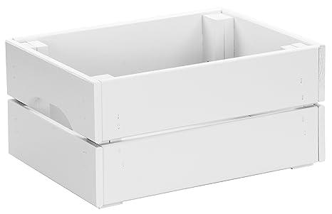 LAUBLUST Hojas Lust – Caja de 100% Madera Maciza en tamaño m – Pino Blanco