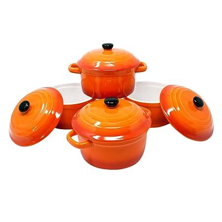 ToCi - Cacerolas con tapa   Mini cazuelas de horno de cerámica 300 ...