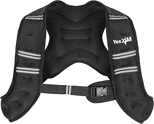 Yes4All Weighted Vest Single 6lb, 8lb, 10lb, 12lb and Combo 12lb Ankle Weight 2lb