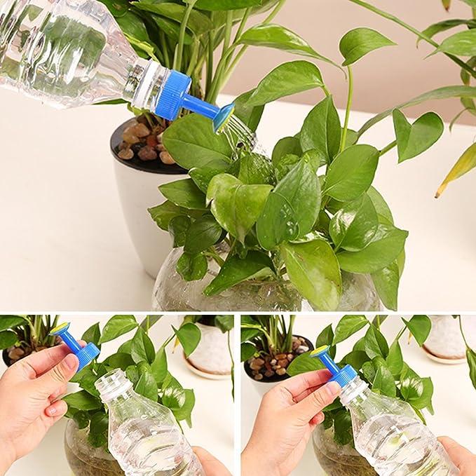 FAVOLOOK 8 piezas de riego de botellas, boquilla de riego de plástico para riego de plantas, para jardín, verduras, riego automático (color al azar), ...
