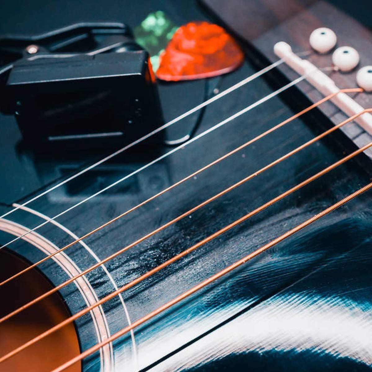 Guitare Cordes 3 jeu de 6 Cordes en Acier pour Guitare Acoustique Cordes de Guitare Acoustique,Cuivre Enniton et Ensemble Multicolore
