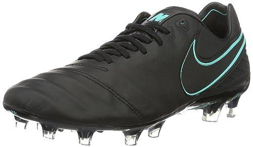 caef48cd2 Nike Men s Tiempo Legend VI FG Soccer Cleats (5) Black  Amazon.ca ...